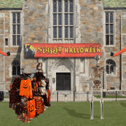 Bapst Library Unveiled As A Spirit Halloween Store Following Renovation