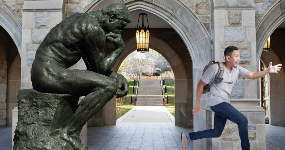Run! Philosophy Student Wants To Tell You What He's Learned