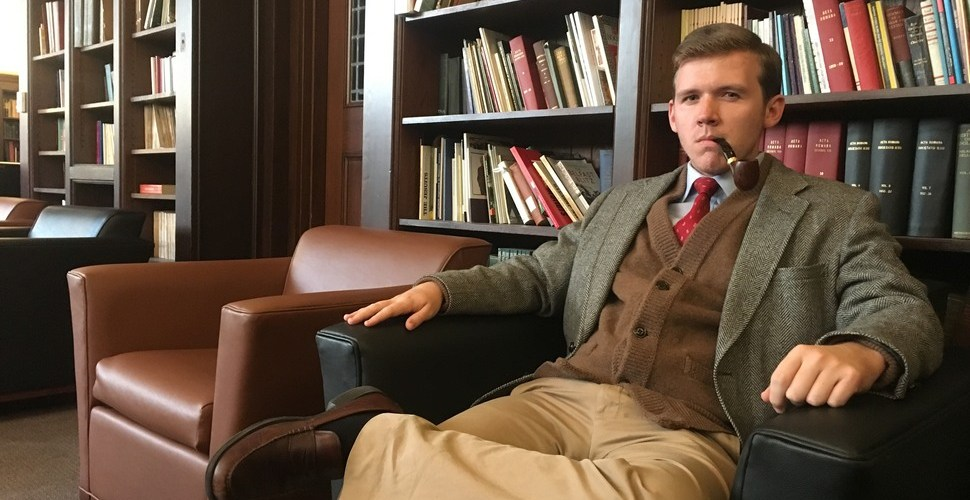 BC's Pipe-Smoking Students Demand More Sumptuous Leather Armchairs