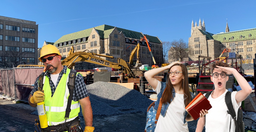Five Reasons You Should Skip Class and Watch the Construction Men, Hard At Work In Their Big Trucks