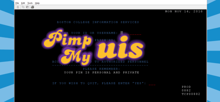 Welcome To Another Episode Of Pimp My UIS!