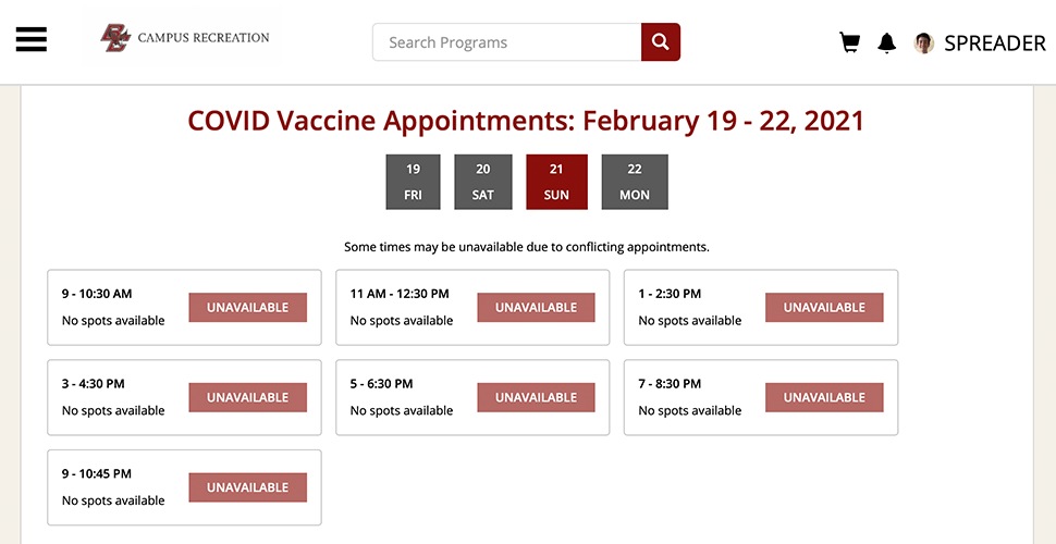 Massachusetts To Use BC's Gym Reservation Software To Schedule Vaccines