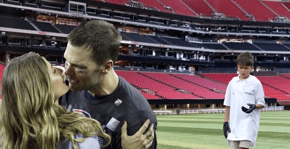Embarrassing! Tom Brady Accidentally Kisses His Wife Instead Of His Kids