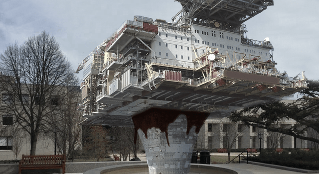 BC Installs Oil Rig As Symbol of Dedication To Fossil Fuel Investment