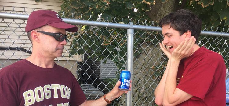 Total Plug: Dad Gives Sophomore Sip Of Beer During Game