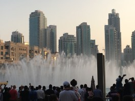 Largest (but maybe the shortest) choreographed fountain show in the world.