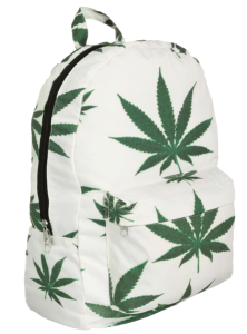 marijuana leaf backpack