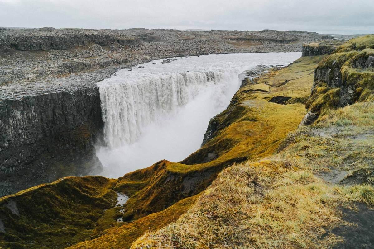 Dettifoss waterval Noord IJsland