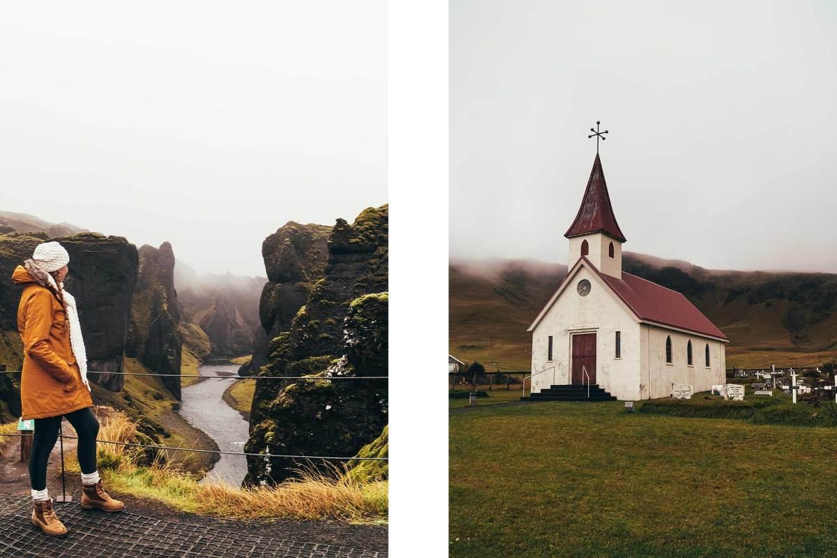 Fjaðrárgljúfur kloof IJsland