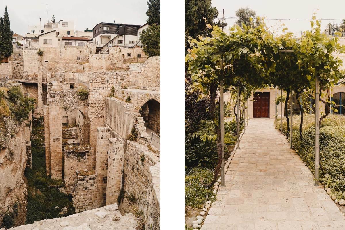 Baden van Bethesda bezoeken in Jeruzalem