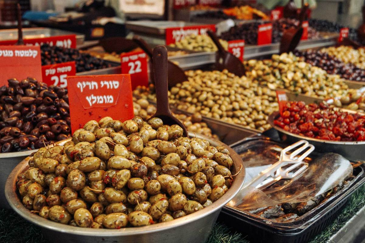 Street food proeven op de Mahane Yehuda Food Markt in Jeruzalem