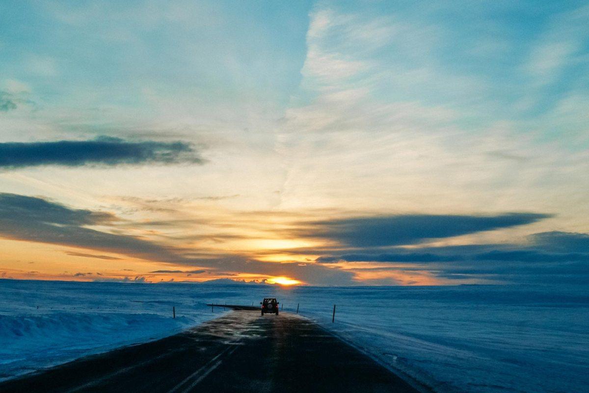 Auto huren in de winter in IJsland