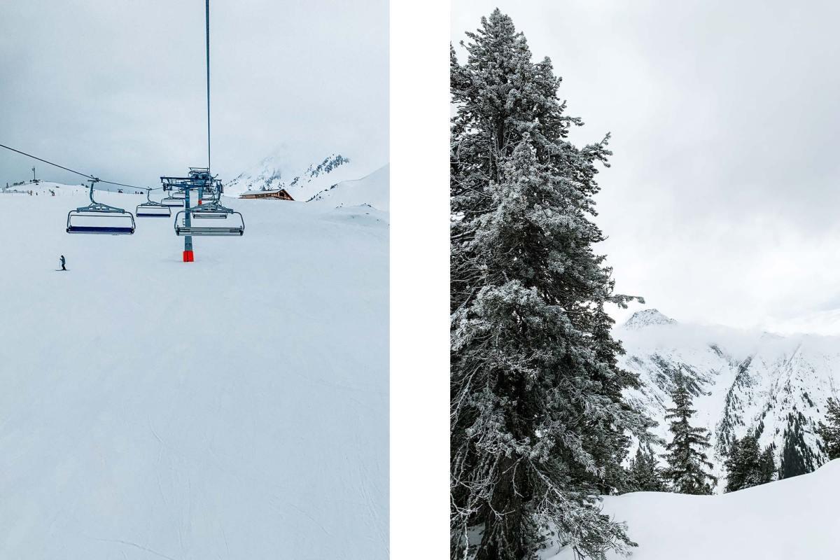 Het skigebied Mayrhofen in Tirol