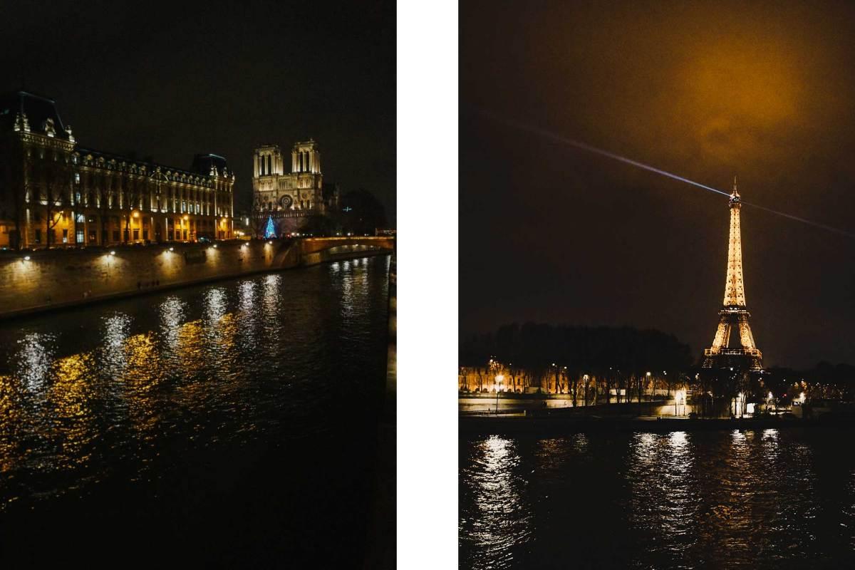 Avondwandeling langs de Seine in Parijs