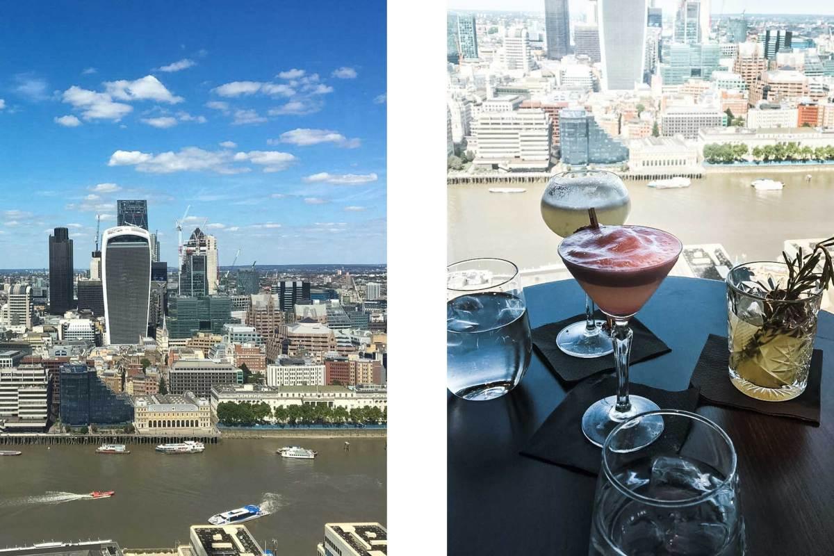 Cocktails met een fenomenaal uitzicht in Londen