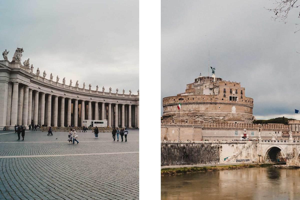 Bezoek Vaticaanstadin Rome