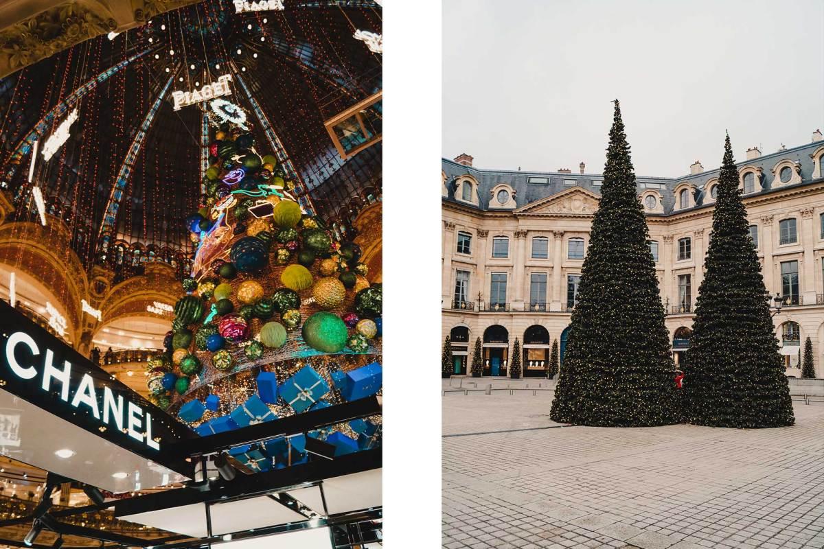 Parijs met kerst en oud en nieuw