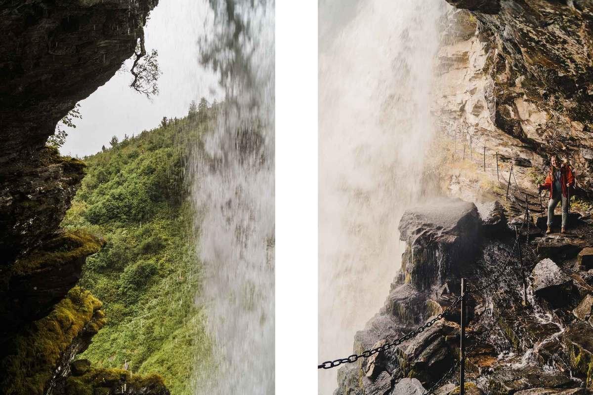 Hiken naar de Storsæterfossen waterval in Geiranger