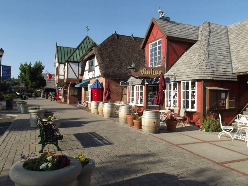The nearby town of Solvang, CA