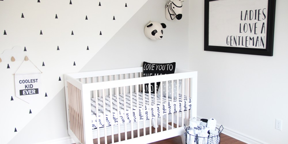 Monochrome Baby Boy Nursery