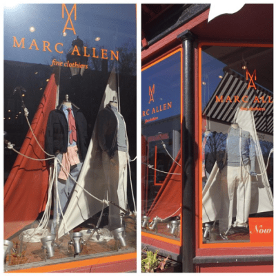 Marc Allen Fine Clothiers Volvo Ocean Race Window