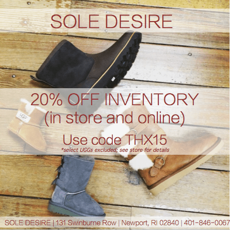 Sole Desire Newport Black Friday