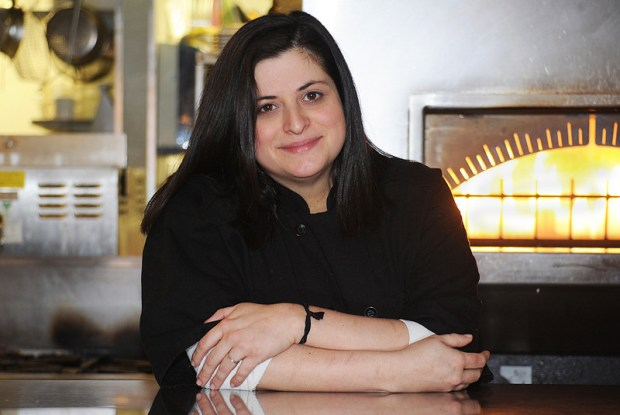 Chef Marina Gregson in her kitchen at the Fifth Element Resturant in Newport.