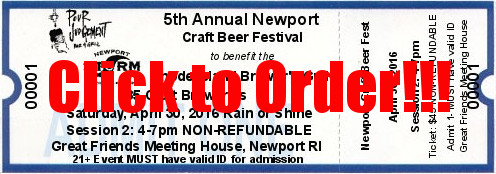 Newport Craft Beer Fest Session 2 Ticket