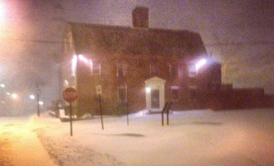 White Horse Tavern Winter night