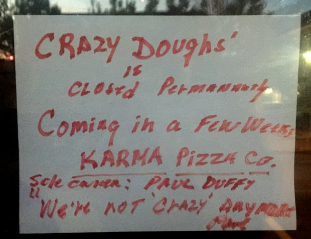 Crazy Dough Pizza Newport RI Closed