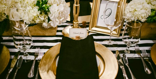 Black and white wedding decor the newport bride junglespirit Images