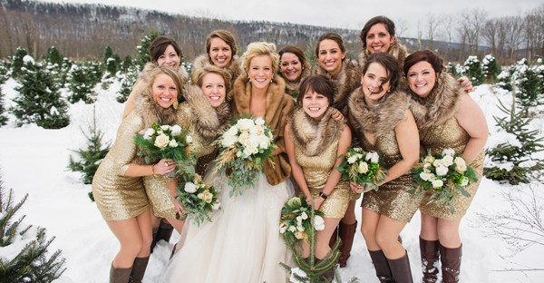 Winter Accessories for Bridesmaids | The Newport Bride