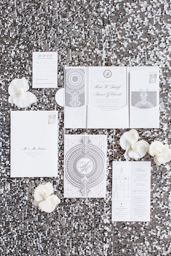 21 Art Deco Invitations The Newport Bride
