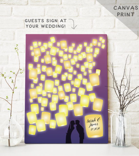 Tangled Inspired Lantern Fairy Tale Guest Book Alternative | Friday Favorite From The Newport Bride
