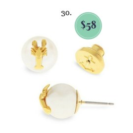 Lobster and Pearl Studs on The Newport Bride's Holiday Gift List | The Newport Bride