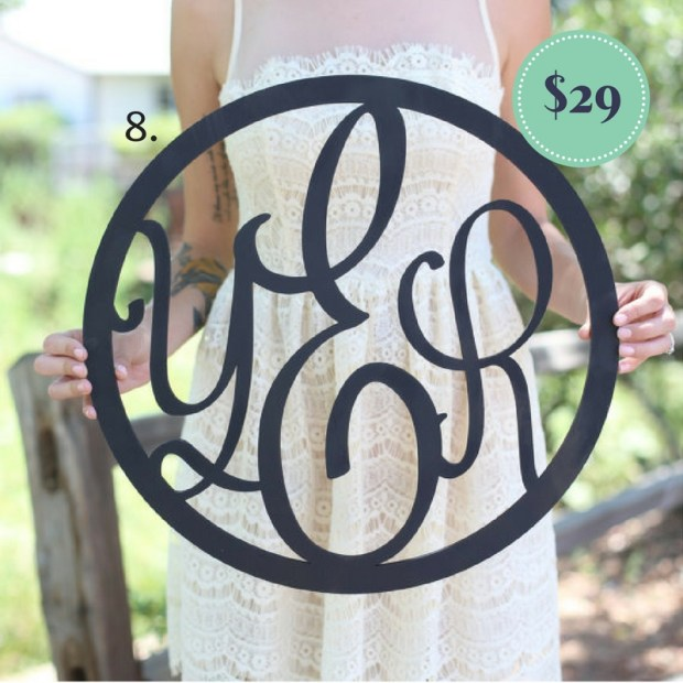 Monogram Wooden Wreath on the The Newport Bride Holiday Gift Guide | The Newport Bride