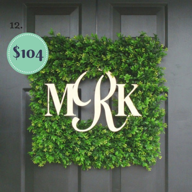 Monogrammed Boxwood Custom Wreath on the The Newport Bride Holiday Gift Guide | The Newport Bride