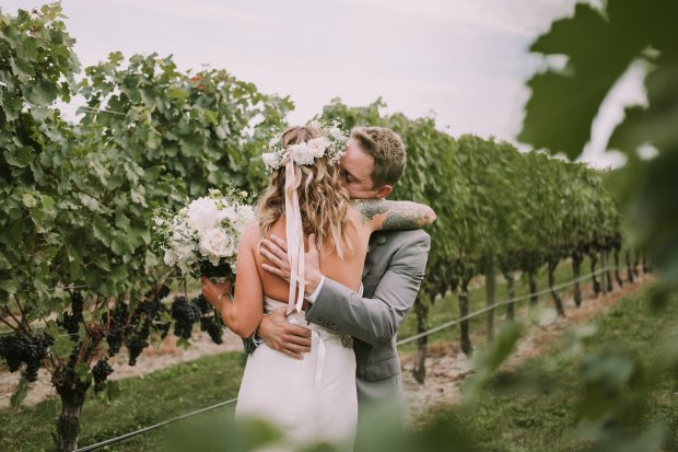Whitney and Tyler's Newport Vineyards Wedding