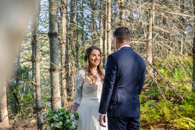Kristina and Mike's Romantic Woodsy Wedding on The Newport Bride