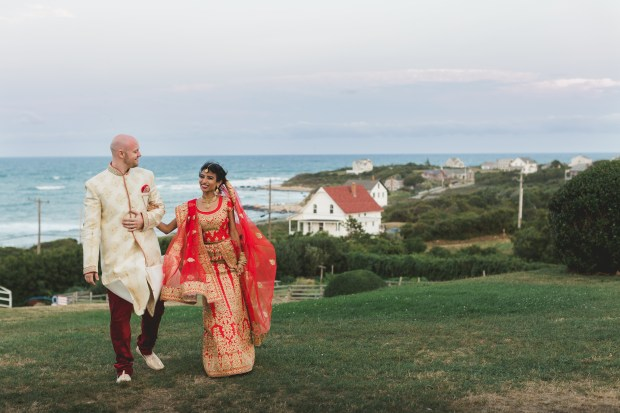 Turquoise and Peach Indian Wedding at The Spring House