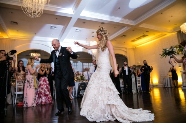 Samantha and Eric's Glamorous Sunset Wedding at Belle Mer on The Newport Bride