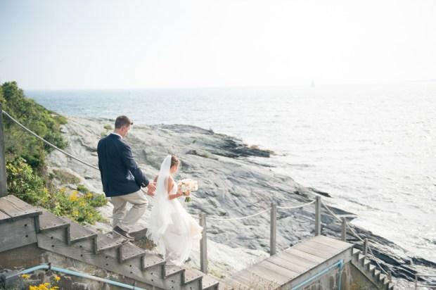 Maura and Doug's Sea Glass and Sea Horses Castle Hill Inn Wedding