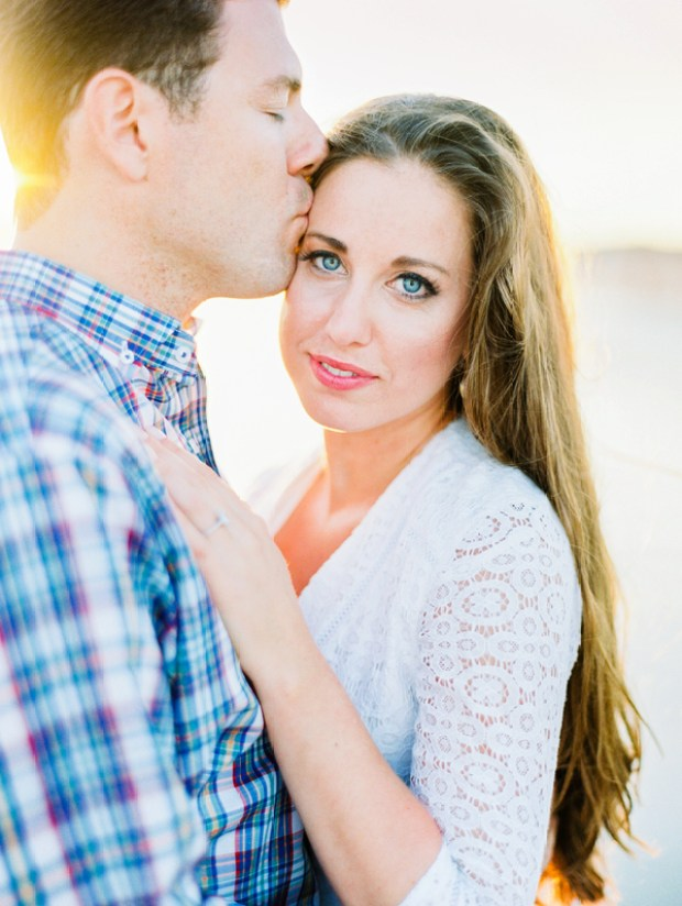 Sunset Newport Engagement Session at the Historic Fort Adams on The Newport Bride