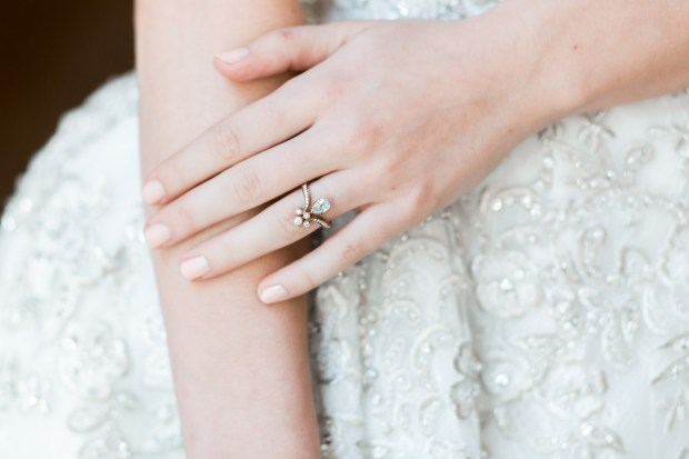 Trumpet and Horn Empire State Ring as featured on The Newport Bride a New England Wedding Blog