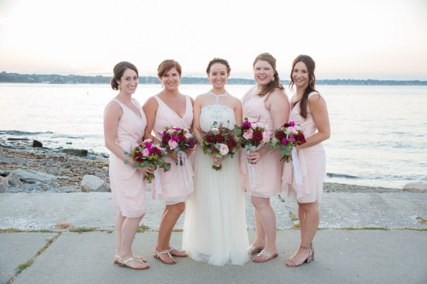 Kaitlyn and Adam's Magenta and Blush Fort Adams Wedding on The Newport Bride Wedding Blog