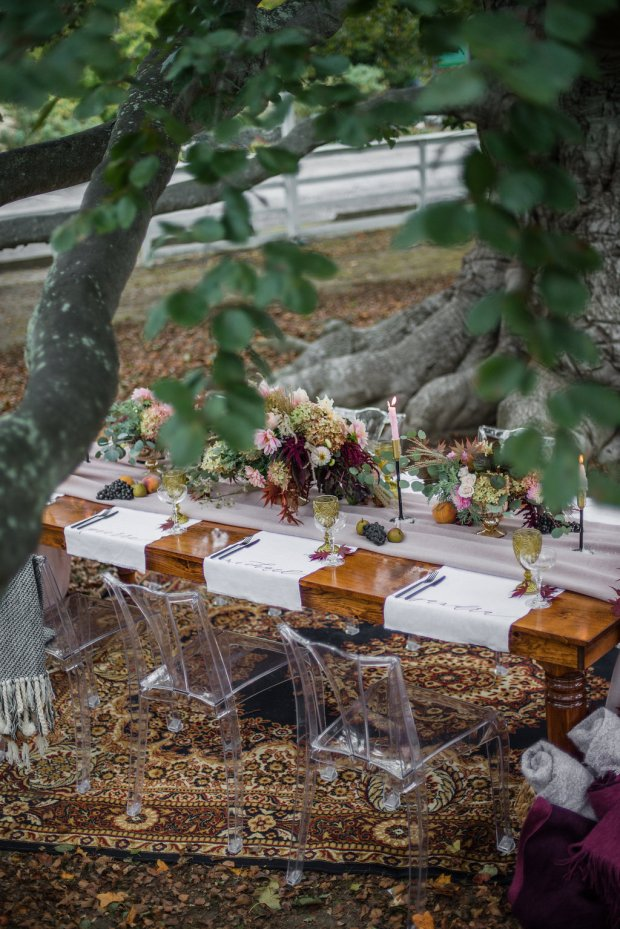 Fig and Fern- A Fall Styled Shoot at the Green Animals Topiary Gardens