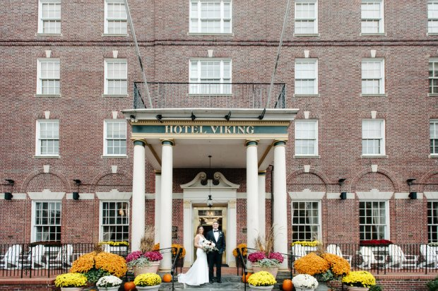 Kayla and Steve's Red and Gold Wedding The Atlantic Resort