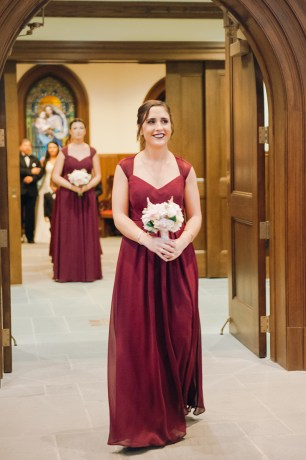 Danielle and Dan's Gold and Cranberry Atlantic Resort Wedding