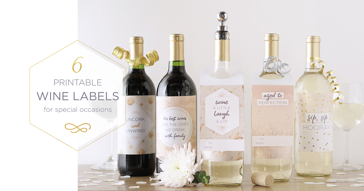 6 Free Downloadable Bottle Labels