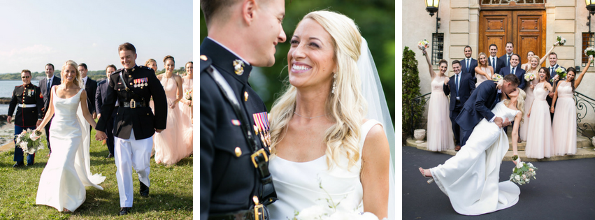 Larisa and Captain Murphy's Glen Manor House Wedding